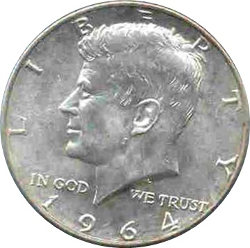 1964 USA Kennedy $1/2 Silver Coin